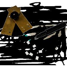 Matrice e punzone utilizzati per la creazione del provino.